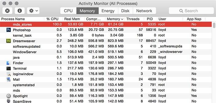 FIXED] mds_stores Process Consuming High CPU Usage - MacMetric