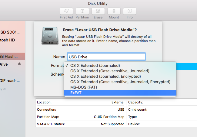 exfat format pendrive how to format usb drive on mac