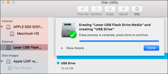 successful format disk utility how to format usb drive on mac