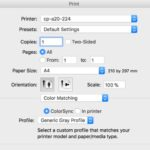 How to Print Black and White on Mac