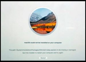 [FIXED] MacOS Could Not Be Installed On Your Computer