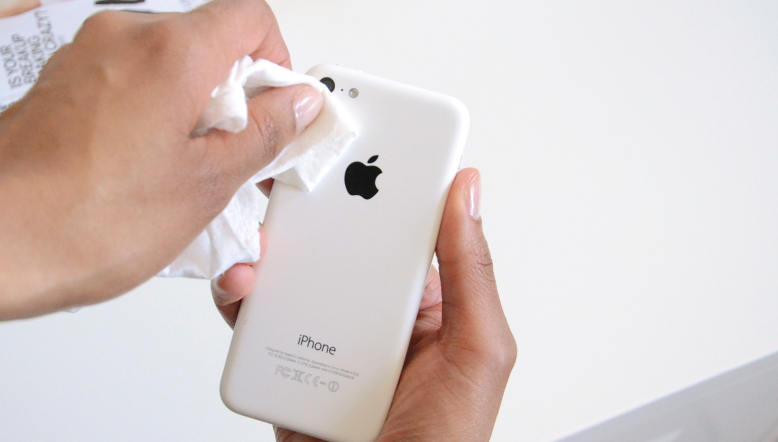 Remove dirt from iPhone camera