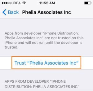 Trust developer app